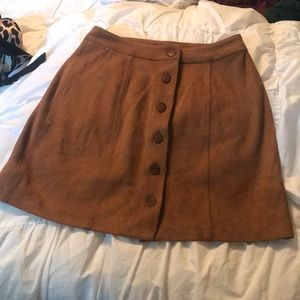 Nordstrom faux suede skirt